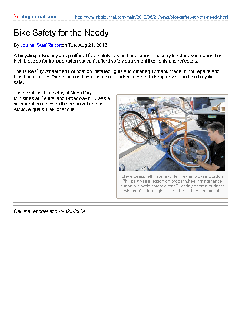 abqjournal.com-Bike_Safety_for_the_Needy